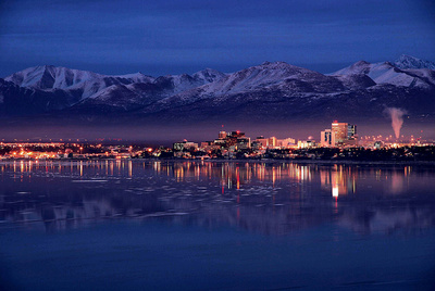 anchorage at night